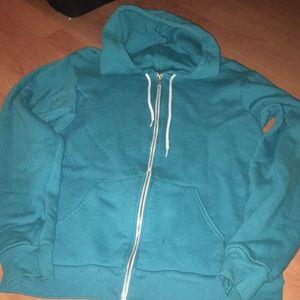 American apparel full zip hooded sweatshirt